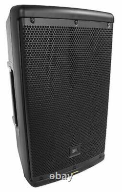 2 JBL EON610 10 2000w Powered DJ PA Speakers withBluetooth+Stands+Cables+Scrims