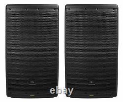 (2) JBL EON612 12 2000 Watt Powered Active 2-Way DJ PA Speakers with Bluetooth