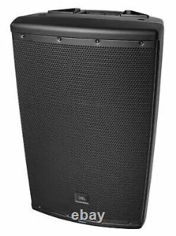 (2) JBL EON615 15 2000 Watt Powered DJ PA Speakers+Stands+Cables+Mic+Headphones