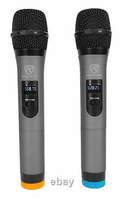 2 JBL IRX108BT 8 1000w Powered DJ Portable PA Speakers with Bluetooth+Stands+Mics