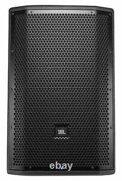 (2) JBL PRX812W 12 1500w Powered DJ Speakers withDSP/WiFi+Adjustable Totem Stands