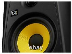 (2) KRK CLASSIC 5 Studio Monitor 5 Nearfield Powered Speakers+Pro Headphones