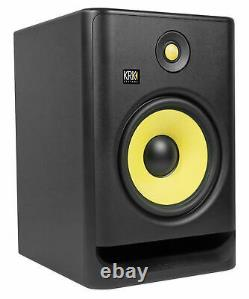 (2) KRK RP8-G4 Rokit Powered 8 Studio Monitors+Stands+Pads+Cables+Earbuds