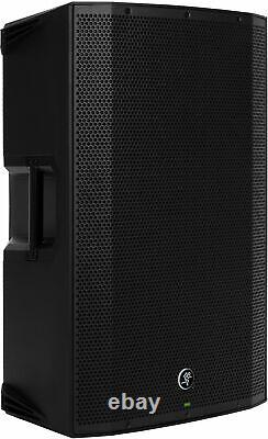 (2) Mackie Thump15A 15 Powered DJ PA Speakers+ Thump18s Subwoofer+Stands+Cables