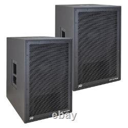 (2) Peavey DM 115 SUM Dark Matter Pro Audio DJ 800W Powered 15 Sub Subwoofer