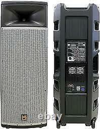 2 Pro PA DJ Dual 15 3Way Full Range Bluetooth Powered Speaker, 2 Display