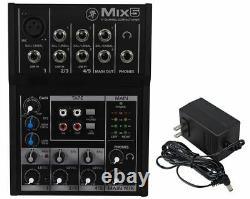 2 Rockville BPA225 Dual 15 Powered DJ PA Speakers w Bluetooth+Mackie Mixer+Mic