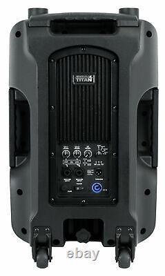 2 Rockville TITAN 12 12 2000w Powered DJ PA Speakers/Bluetooth/DSP/Wireless TWS