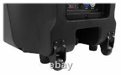 2 Rockville TITAN 15 15 2000w Powered DJ PA Speakers/Bluetooth/DSP/Wireless TWS