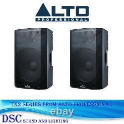 2 x ALTO TX210 300 WATT ACTIVE 10 POWERED DJ DISCO BAND AMPLIFIED SPEAKER