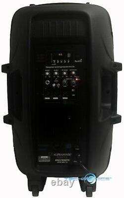 Alphasonik 15 Powered 2800w Pro Dj Bluetooth Usb Pa Led MIC Usb Speaker + Stand