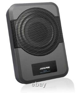 Alpine Pwe-s8 Powerful Active Box Subwoofer 120w Rms + Remote Control, Brand New