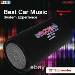 Bass Tube 12 1250W PMPO Powered Active Car Subwoofer Amplifier 5Core BT 1201