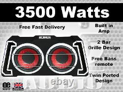 Big power 3500W Twin 12 Amplified Active Subwoofer Sub Amp bass box