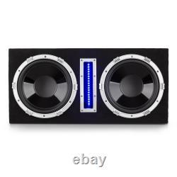 Car Subwoofer Active 2 x 10 Amplifier Hi fi Powerful Bass Audio MP3 LED Lights