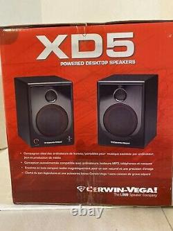 Cerwin Vega XD5 5 2-Way Active Powered Desktop Speakers. RARE