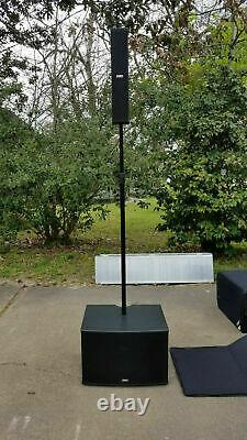 FBT CS1000 Vertus Compact Powered Line Array 12 Sub With Transport Cover