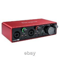 JBL 306P MkII 6.5 Powered Studio Monitor Speakers Pair w Scarlett 2i2 3G Inter