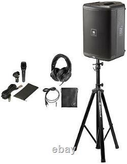 JBL EON ONE COMPACT Rechargeable 8 Powered PA Speaker+Mackie Headphones+Mic