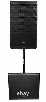 JBL EON612 12 1000w Powered DJ PA Speaker System+18 Subwoofer Sub withBluetooth