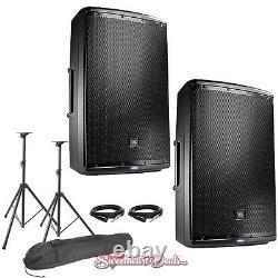 JBL EON615 15 Powered Active PA Loud Speakers Bundle Live Sound Club DJ PA