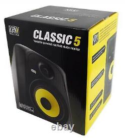 KRK CLASSIC 5 Studio Monitor 5 Nearfield Active Powered Bi-Amped 2-Way Speaker