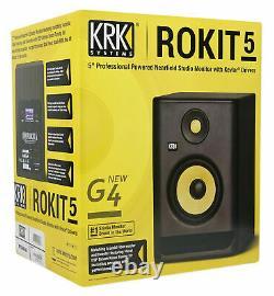 KRK ROKIT 5 G4 5 Bi-Amped Active Powered Studio Monitor Speaker RP5-G4 RP5G4