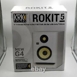 KRK RP5 Rokit 5 G4 Professional Bi-Amp 5 Powered Studio Monitor, White Noise