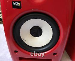 KRK SYSTEMS Rokit 6 RPG2 RARE RED Powered Studio Monitors Pro Audio PLEASE READ