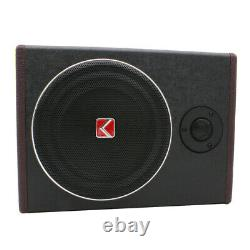KUERLE 8'' 600W Active Under Seat Car Subwoofer Audio Speaker Stereo Powered Amp
