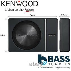 Kenwood KSC-PSW8 250 Watts Under Seat Active Amplified Powered Car Subwoofer Sub