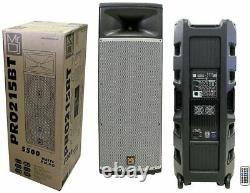 MR. DJ PRO215BT Powerfull Professional Dual 15 Full Range Powered Speaker