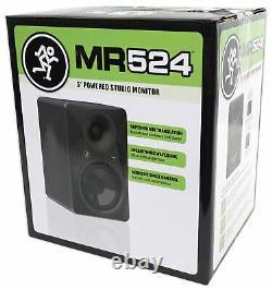Mackie MR524 5 50 Watt Powered Active Studio Monitor Class A/B Bi-Amped Speaker