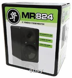 Mackie MR824 8 85 Watt Powered Active Studio Monitor Class A/B Bi-Amped Speaker