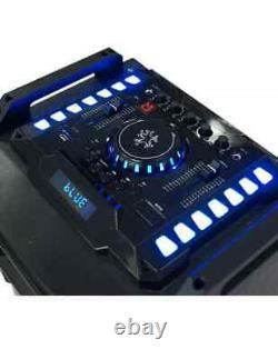 Mr Dj ATLANTIC Dual 12 Powered PA DJ Bluetooth Karaoke Active Speakers Party