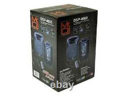 Mr. Dj DSP-4000 15 POWERED 4000W PRO DJ BLUETOOTH USB PA LED MIC USB SPEAKER