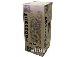 Mr Dj PRO215BT Professional PA DJ Dual 15 Full Range Powered Speaker 2 Display