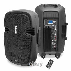NEW Pyle PPHP1237UB 12 900W Powered Two-Way Speaker MP3/USB/SD/ Bluetooth Music