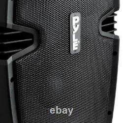 New PylePro PPHP1237UB 900W 12-Inch Bluetooth Powered DJ PA Black Speaker System