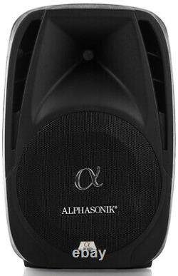 Pair Alphasonik All-in-one 12 Powered 1500W PRO DJ Amplified with BLUETOOTH USB