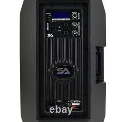 Pair of Powered 12 1000 Watt PA /DJ Speaker Bluetooth, DSP, Mixer & Class D Amp