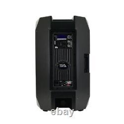 Pair of Powered 15 1000 Watt PA /DJ Speaker Bluetooth, DSP, Mixer & Class D Amp