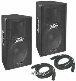 Peavey (2) Pv115D Pro Audio DJ Single 15 Powered 2-Way 400W Pa Speaker Pair New