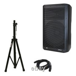 Peavey DM 115 Dark Matter Pro Audio DJ 700W Powered 15 Speaker with Stand & Cable