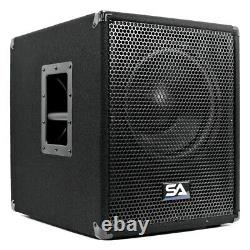 Powered 12 Inch Pro Audio/DJ Subwoofer Cabinet with Class D Amp 800 Watts