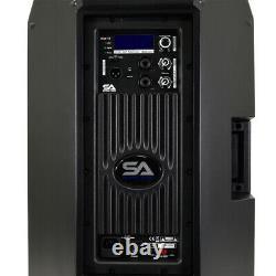 Powered 15 1000 Watt PA /DJ Speaker Bluetooth, DSP, Mixer & Class D Amp
