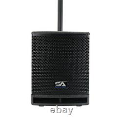 Powered Column Array PA System 700 Watts 10 Sub & 2 Satellite Speakers DSP