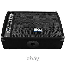 Premium Powered 2-Way 10 PA Floor Monitor with Titanium Horn Active Monitor