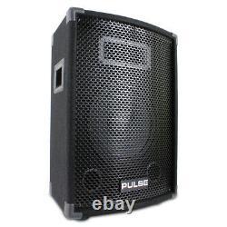 Pulse DP3187515 10 Active Powered PA Mixer Amplifier Speaker System 200 Watt