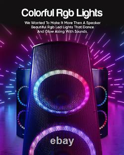 Qaise-12000 Watts Peak Power High-End Rechargeable Bluetooth Party Speaker Karao